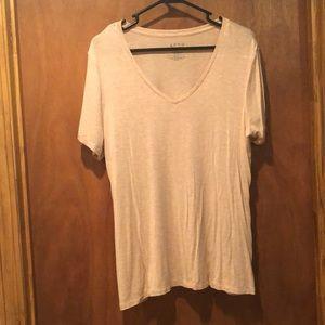 Women's V-neck Blush Shirt